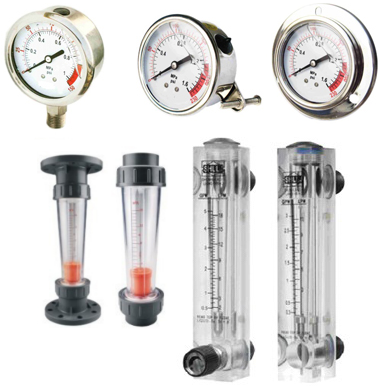 Meters, Flowmeters & Gauges